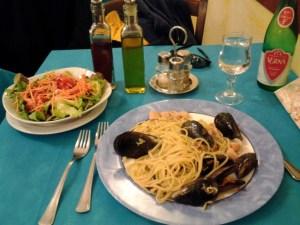 Dinner in Rome, Italy.