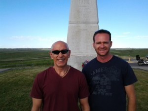 Jeremy and I at Little Big Horn battlefield, Custer's Last Stand, Montana.