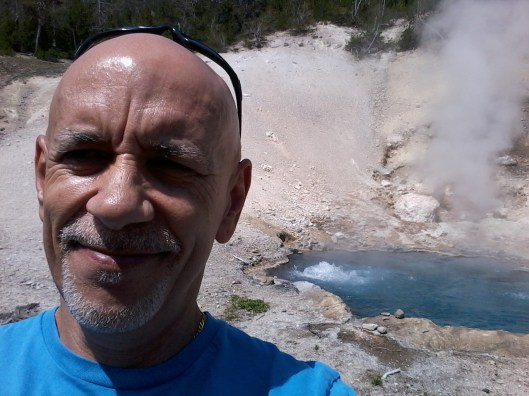 Near a boiling hot springs.