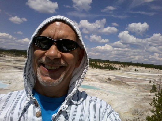 I was sweating my kazoo off here, mostly due to the heat emanating from various hot springs in the area.