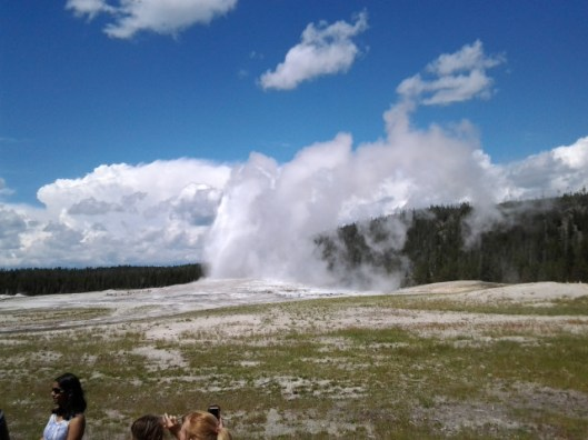 Another shot of the geyser spouting (it lasted almost five minutes).