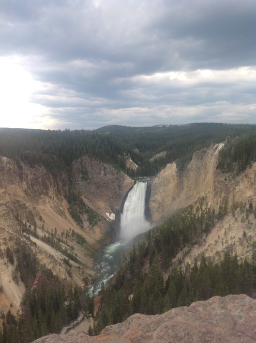 Lower Falls at Yellowstone.
