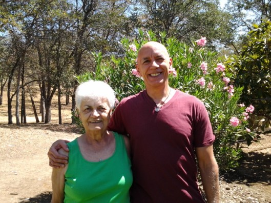 My aunt Francis and I at her home in Coarse Gold. I was visiting her and my uncle Paul.