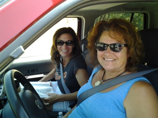 My cousins Jackie and Johanna (daughters of my aunt Francis).