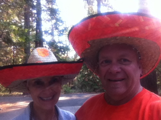 Gail and Chi rocking their SF Giants Sombreros! Oh yeah!