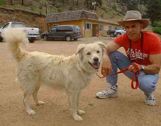 Shasta and I at the Mountain Club, shortly after I got her in July, 2000.