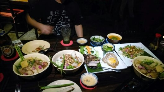 Another photo of the meal we enjoyed during our first night in Hoi An.