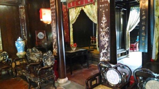 Inside the Tan Ky house.