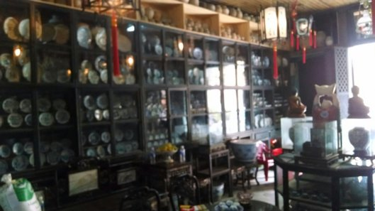 Same house with these displays of earthenware and crockery.