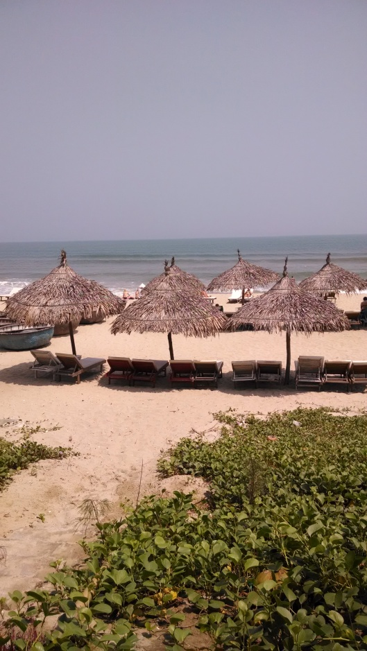 The beach which is located about 3-4 miles from Hoi An.