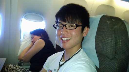 This is Jin, a Japanese friend I met on my flight from Seattle to Seoul.