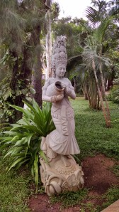 This sandstone statue typically sells for approximately $2500 to $4000.