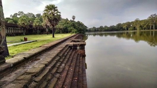 Moat which surrounds the main temple complex.