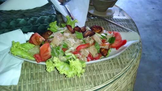 Sea bass salad. Delicious!