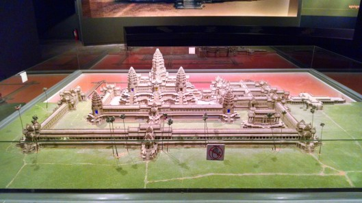 Model showing the main Ankgor Wat temple site.