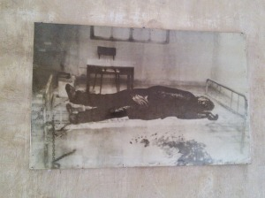 Photo of another prisoner killed by his fleeing captors only hours before the prison was taken by the Vietnamese.