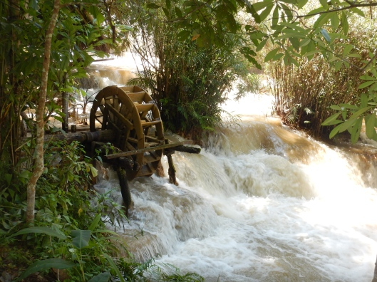 Not certain this water wheel was working properly.