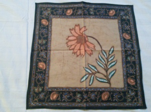 Lovely flower batik.