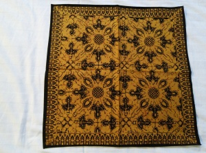 One of five Batik cotton napkins I purchased.