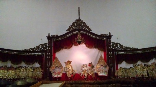 Wayang puppet show. I wrote a little bit about these puppets in a previous post about Batik.