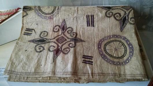 Batik print at the museum.