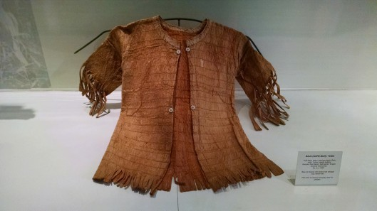 Clothing worn by a Java island child. This is made out vegetation (bamboo I think).