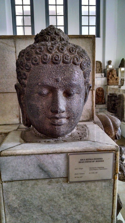 Bust of a Java islander.