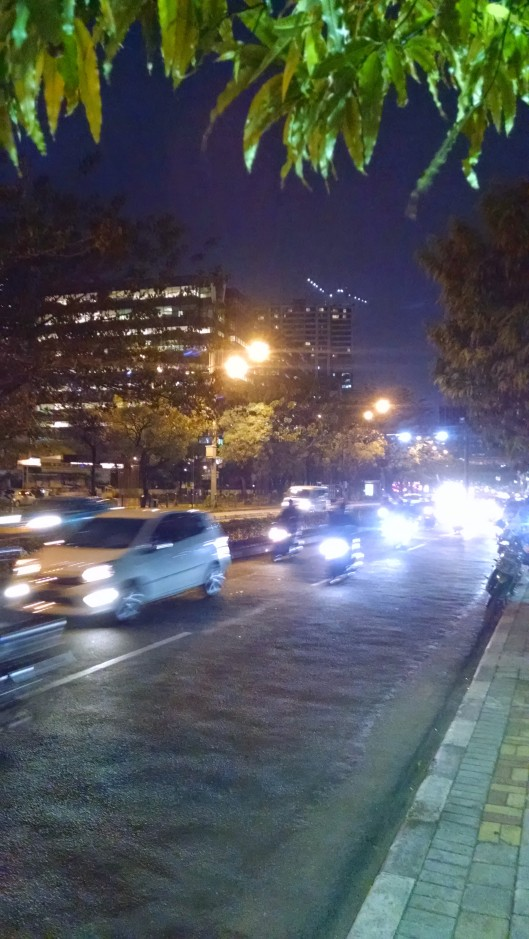Best time to move around Jakarta is at night after the traffic eases and workers have left the city for the suburbs.